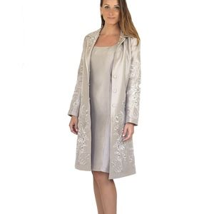 2PC•Eileen West Mother of the Bride Silk DressCoat